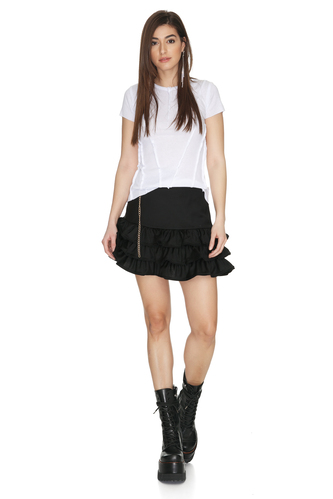 White Cotton Top With Front Details - PNK Casual