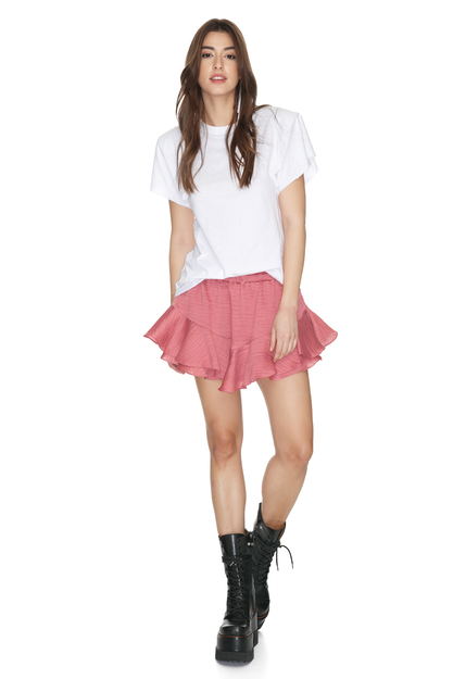 Dusty Pink Shorts With Elasticated Waistband