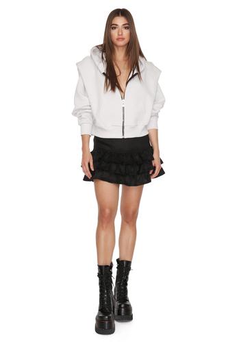 Grey Long Sleeve Zipped Hoodie - PNK Casual