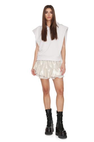 Oversized Grey Cotton Vest - PNK Casual