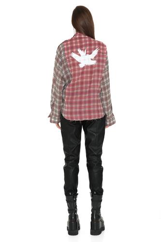 Printed Checkered Linen-Cotton Shirt - PNK Casual