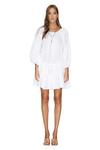 White Mini Boho Cotton Dress
