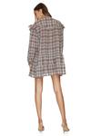 Linen-Cotton Checkered Mini Dress