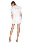 White Mini Cotton Embroidered Dress