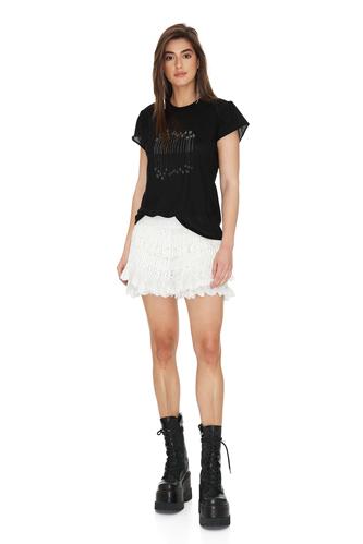 Cotton Lace White Shorts - PNK Casual