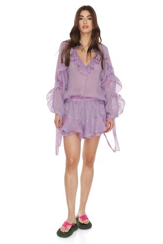 Linen Purple Shorts - PNK Casual