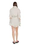 Grey Linen Cutout Mini Dress