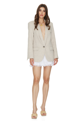 Grey Linen Blazer - PNK Casual