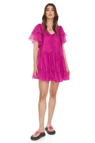 Relaxed Fit Fuchsia Mini Dress - PNK Casual