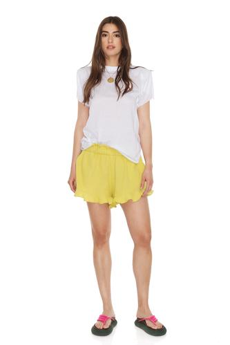 Yellow Boho Shorts With Elasticated Waistband - PNK Casual