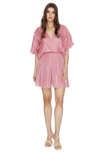Pink Silk Tulle Mini Dress - PNK Casual