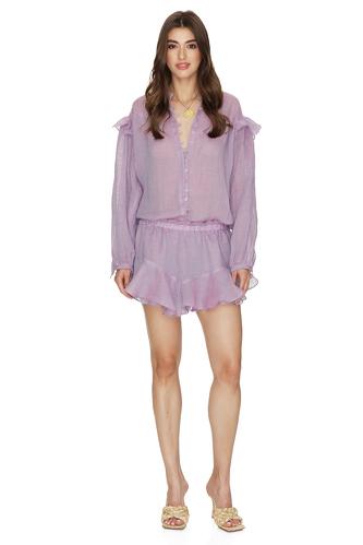 Purple Oversized Linen Blouse - PNK Casual