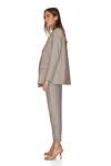 Brown-Gold Oversized Linen Blazer