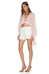 White Cotton Boho Shorts
