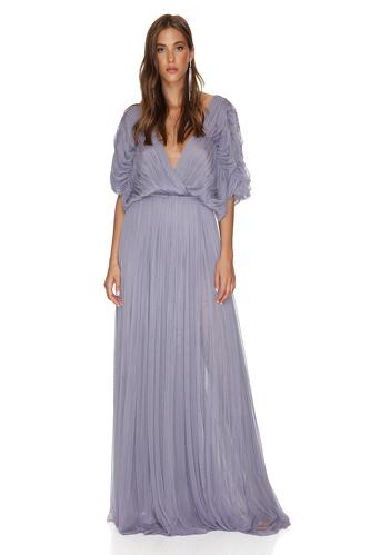 Lavender Silk Tulle Maxi Dress - PNK Casual