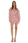 Checkered Pink Linen-Cotton Shorts
