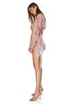 Wrap Printed Linen-Silk Blouse