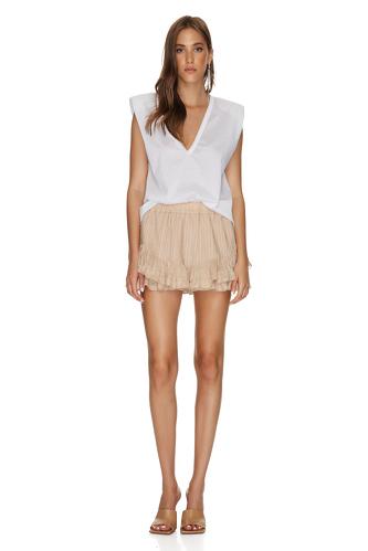 Beige Linen Shorts - PNK Casual