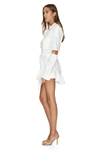 White Cotton Cutout Mini Dress
