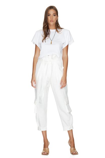 White Cotton Rib Mini Top