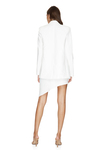 White Oversized Linen-Cotton Blazer