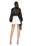 White Mini Skirt With Folded Front Detail