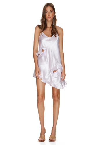 Lavender Mini Dress With Adjustable Straps - PNK Casual