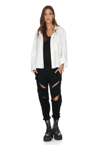 White Cotton Shirt - PNK Casual