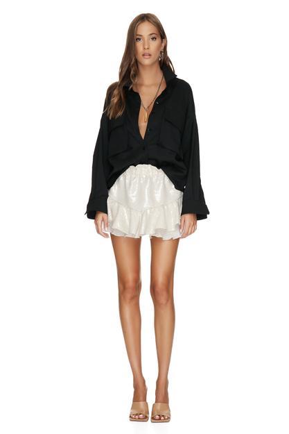 Black Wool Shirt