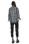 Grey Checkered Wool Oversized Shirt