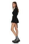 Black Viscose Shorts