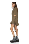 Kaki Cutout Mini Dress