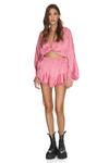 Wrap Pink Viscose Blouse