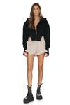 Boho Beige Shorts With Elasticated Waistband