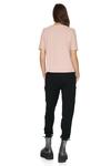 Beige Pink Cotton Rib Mini Top
