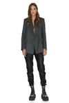 Grey Oversized Wool Blazer