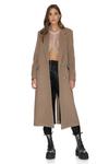 Soft Brown Oversized Midi Coat