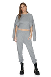 Grey Track Pants With Elasticated Waistband