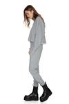 Grey Cotton Oversized Hoodie