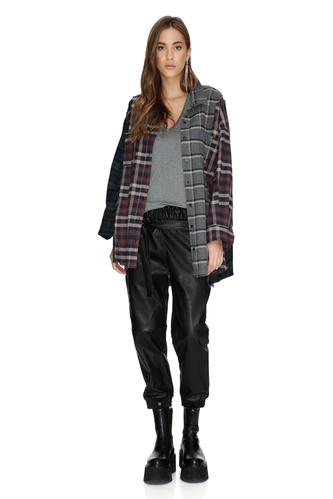 Checkered Long Shirt - PNK Casual