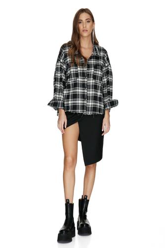 Black Checkered Oversized Shirt - PNK Casual