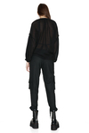 Black Viscose-Wool Blended Shirt