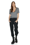 Black Pants With Side Details
