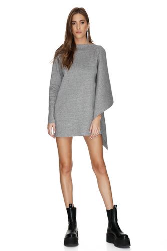 One Shoulder Grey Mini Dress - PNK Casual
