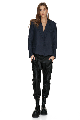 Soft Bleumarin Wool Jacket - PNK Casual